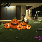 vidaXL Halloween täytettävä kurpitsaperhe LED-valoilla 1,8 m