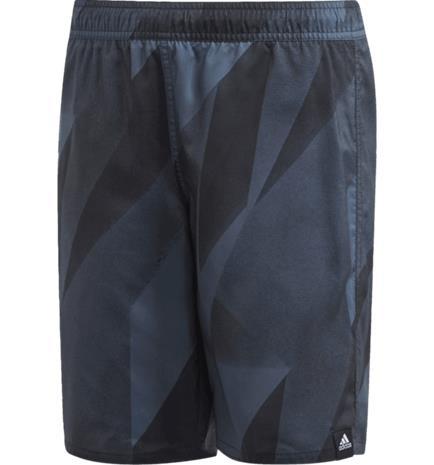 Adidas J GRAPHIC SWIM SHORTS LEGACY BLUE