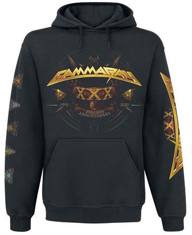 Gamma Ray - 30 Years Golden Logo - Vetoketjuhuppari - Miehet - Musta