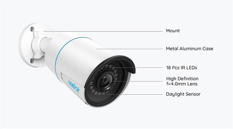 Reolink RLC-510A, PoE-valvontakamera ulko- ja sisäkäyttöön