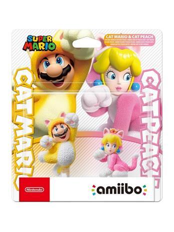 Amiibo Super Mario - Cat Mario and Cat Peach, hahmot