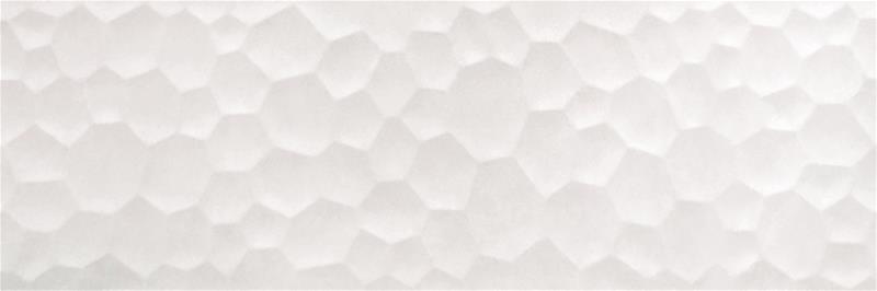 Seinälaatta Azteca Unik R90 Bubbles valkoinen matta