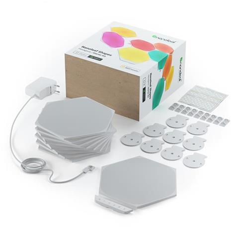 Nanoleaf Shapes Hexagon Smarter Kit, kosketusohjattavat valopaneelit, aloituspakkaus, 9 osaa
