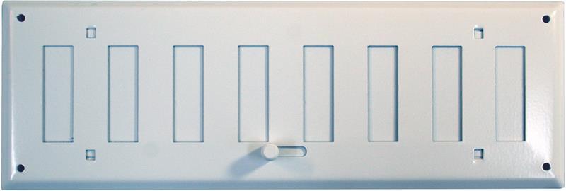 Vapaavirtaussäleikkö Fläktwoods HSO 400 x 100 Teräs valkoinen