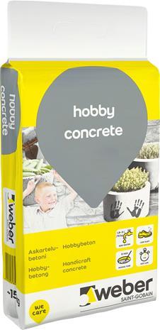 Askartelubetoni Weber DIY Hobby Concrete 15 kg