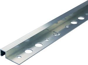 Laattalista Dione 250 cm alumiini 12 mm neliö hopea