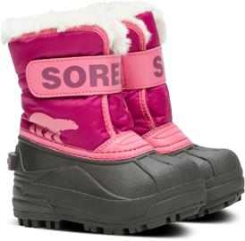 Sorel Children's Snow Commander Talvisaappaat, Tropic Pink/Deep Blush 23