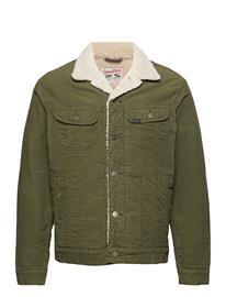 Lee Jeans Sherpa Jacket Farkkutakki Denimtakki Vihreä Lee Jeans OLIVE GREEN