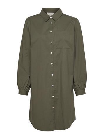 Minus Iluna Shirt Dress Polvipituinen Mekko Vihreä Minus ARMY GREEN