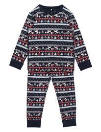 Polarn O. Pyret Pyjamas Aop Preschool Pyjamasetti Pyjama Sininen Polarn O. Pyret DARK SAPPHIRE