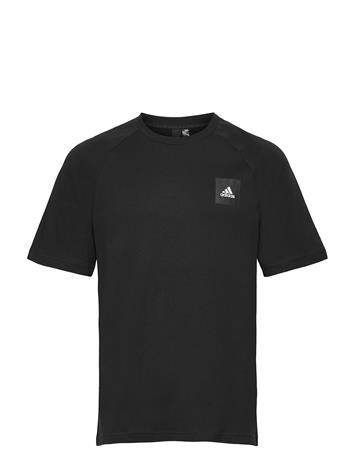 adidas Performance Mhe Tee Sta T-shirts Short-sleeved Musta Adidas Performance BLACK