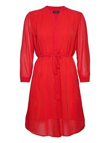 Selected Femme Slfshelly-Damina 7/8 Dress Ex Lyhyt Mekko Punainen Selected Femme TRUE RED