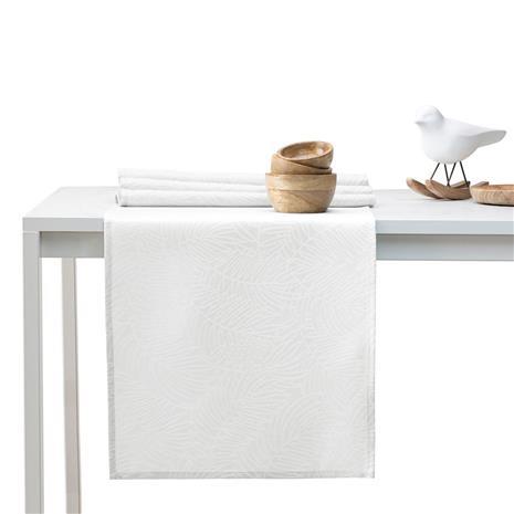 AmeliaHome Gaia -kaitaliina, valkoinen, 40 x 120 cm