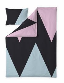 Finlayson Heron -pussilakanasetti, musta-aqua-viinipunainen, 150 x 210 + 50 x 60 cm
