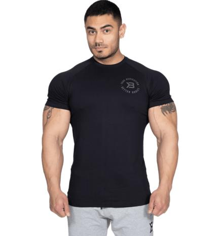 Better Bodies M GYM TAPERED TEE BLACK