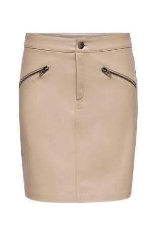 Only Hame onlHeide Faux Leather Skirt