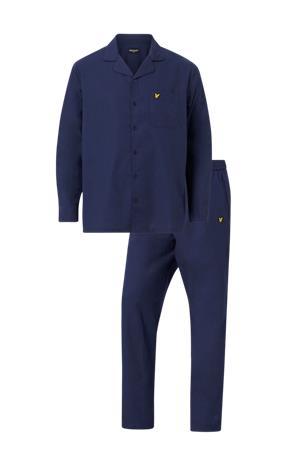 Lyle & Scott Pyjama Plain Woven Shirt and Pant