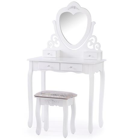 Kampauspöytä + rahi Milian, valkoinen