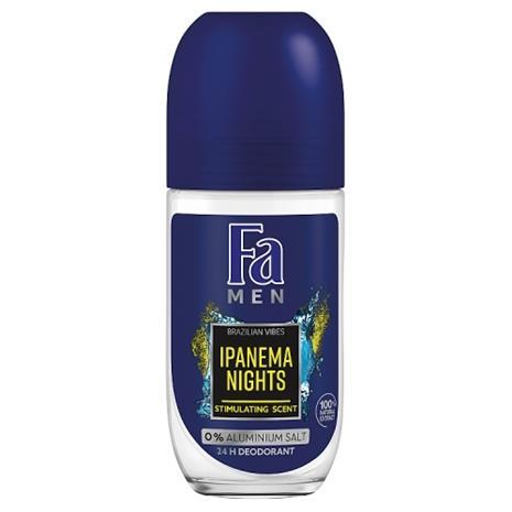 Fa Men Brazilian Vibes Ipanema Nights roll-on deodorantti mihelle 150 ml