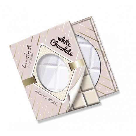 Lovely White Chocolate Rice Powder puuteri 9 g, Transparentny