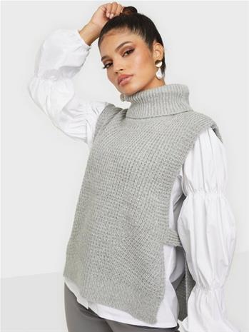 Neo Noir Jamie Knit Waistcoat Grey