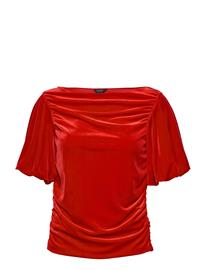 Lindex Top Fabulous Blouses Short-sleeved Punainen Lindex RED