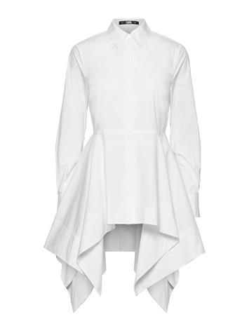Karl Lagerfeld Peplum Tunic Shirt Tunika Valkoinen Karl Lagerfeld WHITE