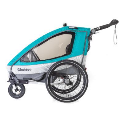 Qeridoo® Polkupyörän peräkärry Sportrex2 Akvamariini, sis. seisontajarrun