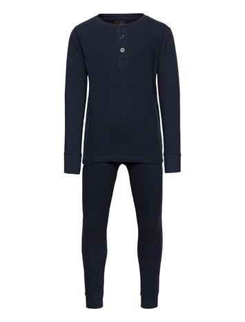 The New Seb Nightset Pyjamasetti Pyjama Sininen The New NAVY BLAZER