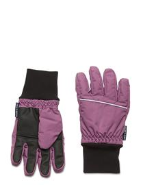 Polarn O. Pyret Glove Solid School Hanskat Käsineet Liila Polarn O. Pyret BERRY CONSERVE