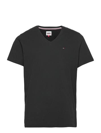 Tommy Jeans Tjm Original Jersey V Neck Tee T-shirts Short-sleeved Musta Tommy Jeans TOMMY BLACK