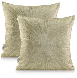 AmeliaHome Nancy -tyynynpäällinen, kultainen, 45 x 45 cm, 2 kpl
