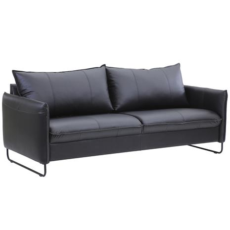 Chic 3h-sohva musta nahka/keinonahka