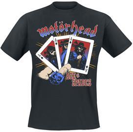 Motörhead - Ace Band Cards - T-paita - Miehet - Musta