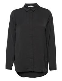 MOSS COPENHAGEN Blair Polysilk Shirt Pitkähihainen Paita Musta MOSS COPENHAGEN BLACK