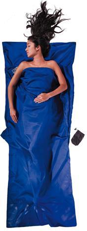 Cocoon TravelSheet Silk, ultramarine blue