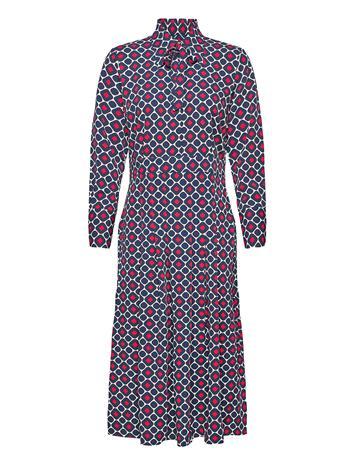 Morris Lady Madie Printed Dress Polvipituinen Mekko Sininen Morris Lady BLUE