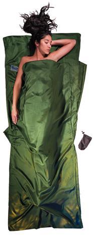 Cocoon TravelSheet Silk, dark olive green