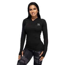 Better Bodies Performance Long Sleeve Hood, musta