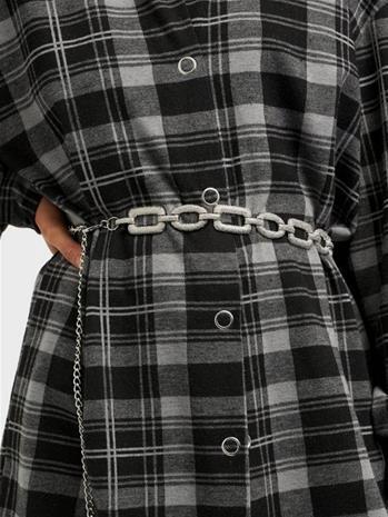 Pieces Pcopal Waist Belt D2D Silver Colour