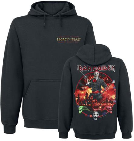 Iron Maiden - LOTB Live Album - Huppari - Miehet - Musta