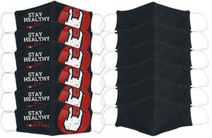 EMP - Stay Safe - 12 kpl setti - normaali koko - Maski - Unisex - Musta valkoinen punainen