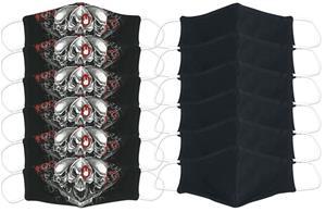 EMP - Live Loud - 12 kpl setti - normaali koko - Maski - Unisex - Musta harmaa valkoinen