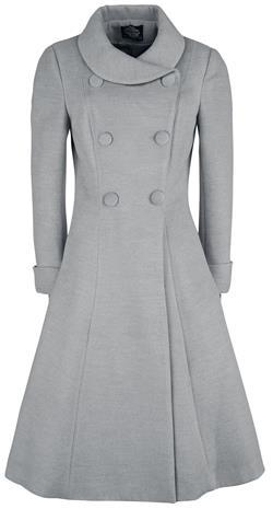 H&R London - Anastasia Swing Coat - Pitkät Takit - Naiset - Harmaa
