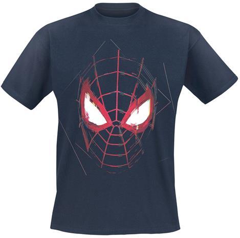 Spider-Man - Miles Morales - Maske - T-paita - Miehet - Tummansininen