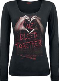 Spiral - We Bleed Together - Pitkähihainen paita - Naiset - Musta
