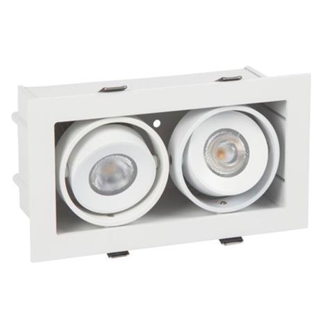 Hide-a-Lite Bright Eye G2 Box II Downlight-valaisin 2x6,8W, valkoinen 3000K