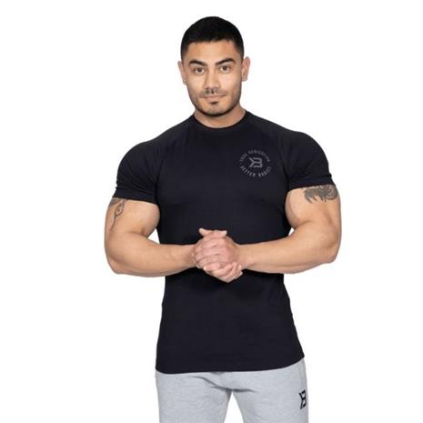Better Bodies Gym Tapered Tee, musta