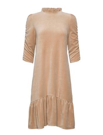 ODD MOLLY Marion Dress Polvipituinen Mekko Beige ODD MOLLY SOFT TAUPE