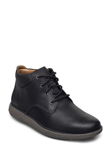 Clarks Un Larvik Top Nyörisaappaat Musta Clarks BLACK LEATHER